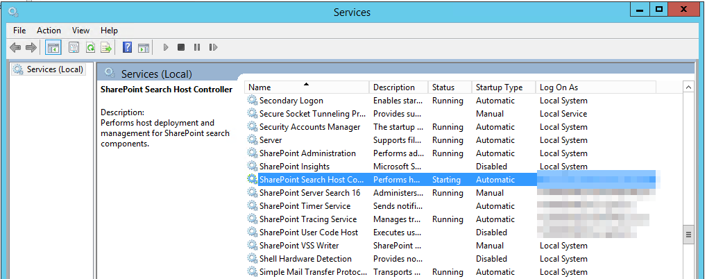 fixed search host controller won t start 1067 6482 http endpoint rh spjeff com Microsoft Project Microsoft SharePoint Site
