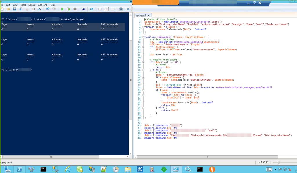 PowerShell – Cache AD User Lookup | @SPJeff