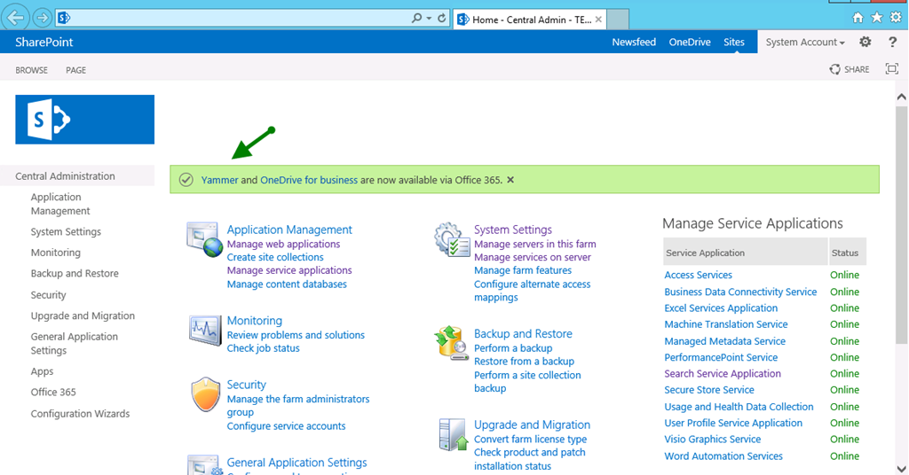 Sharepoint 2013 Sp1 New Central Admin Menus Spjeff