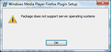 """Workaround for """"Package does not support server operating systems"""